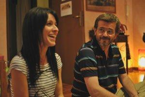 Miriam e Paolo durante la presentazione del corso Psicologia e Taoismo